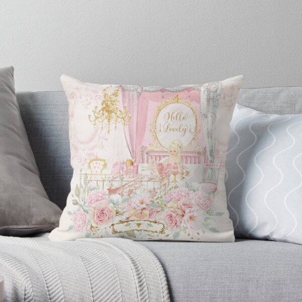 French Patisserie Cake Shop Diorama Throw Pillow By Cafebaudelaire Redbubble