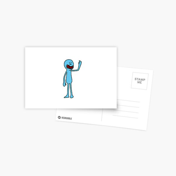 Mr Meeseeks | Rick and Morty character Postcard