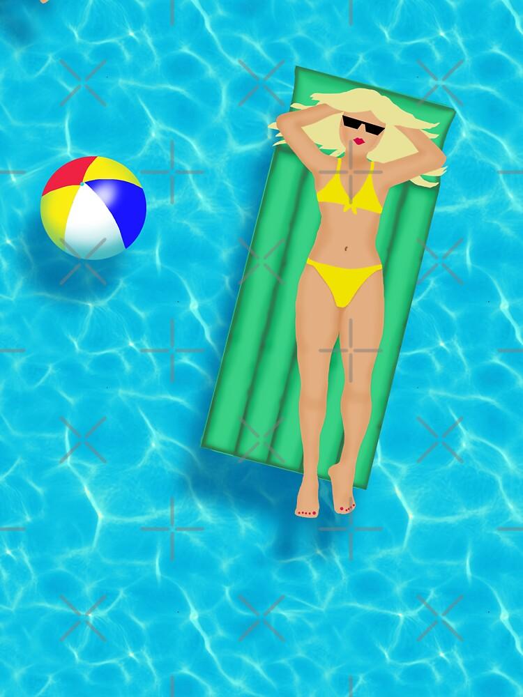Pool Party Bikini Girls  by EmilyBickell