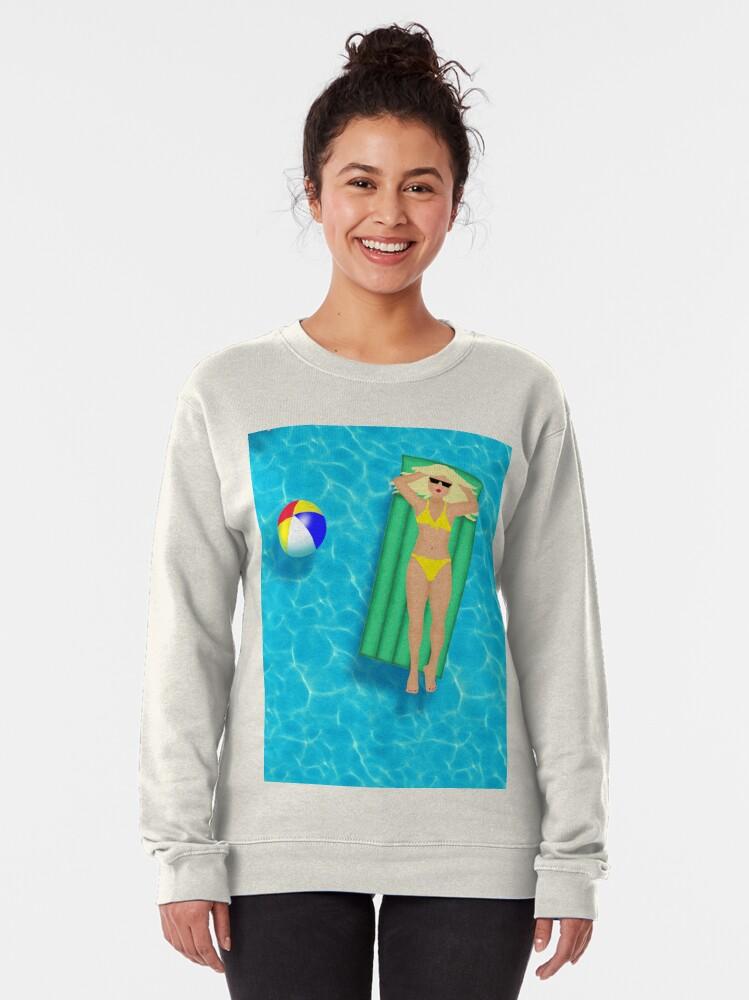 Alternate view of Pool Party Bikini Girls  Pullover Sweatshirt