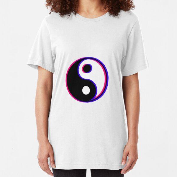 Ying Yang Dripping Cool Chinese Cultural FITTED T-SHIRT Birthday for him her
