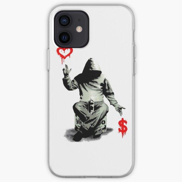 L'amour au-dessus de l'argent Coque souple iPhone