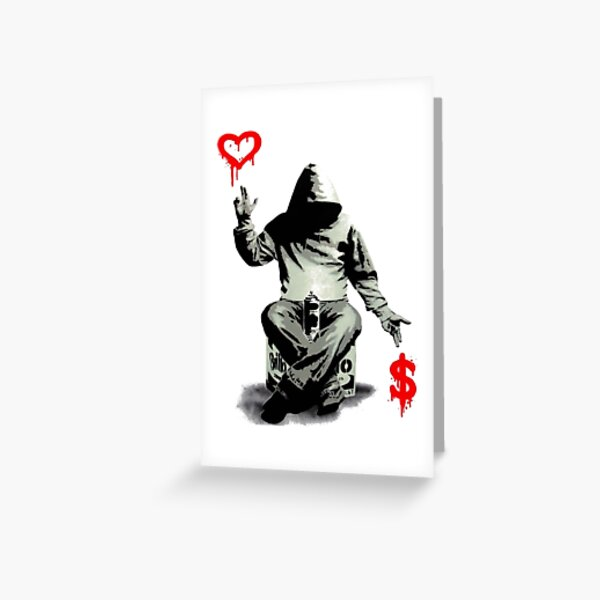 Love Over Money Greeting Card