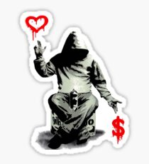Love Over Money Sticker