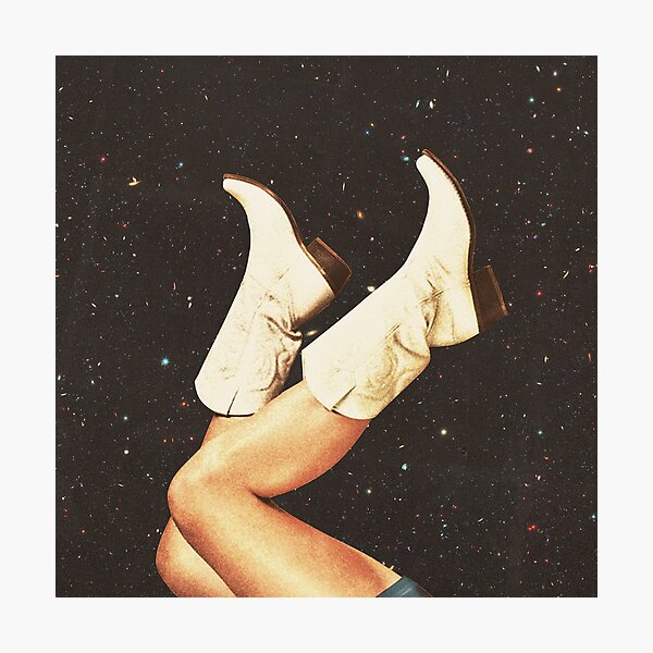 These Boots - (Space Cowboy Boots) Photographic Print