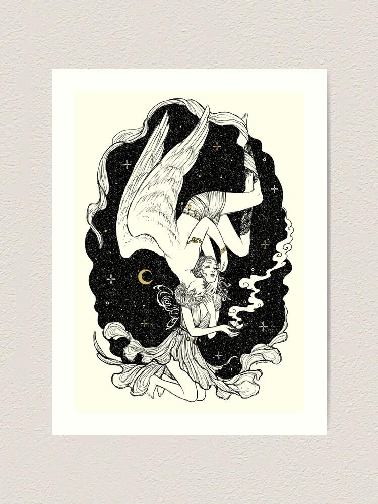 Alternate view of Psyche & Eros - The Last Task Art Print