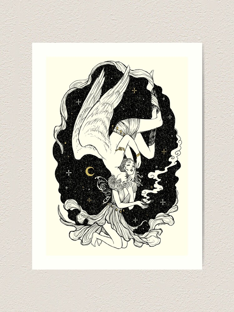 Alternate view of Psyche and Eros - The Last Task Art Print