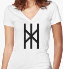 Winter's Rune Women's Fitted V-Neck T-Shirt