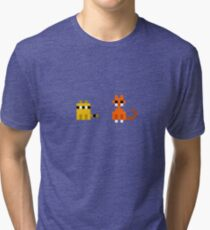 Raccoon + Cat Tri-blend T-Shirt