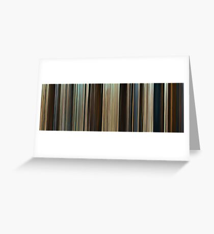 Moviebarcode: Troy (2004) Greeting Card