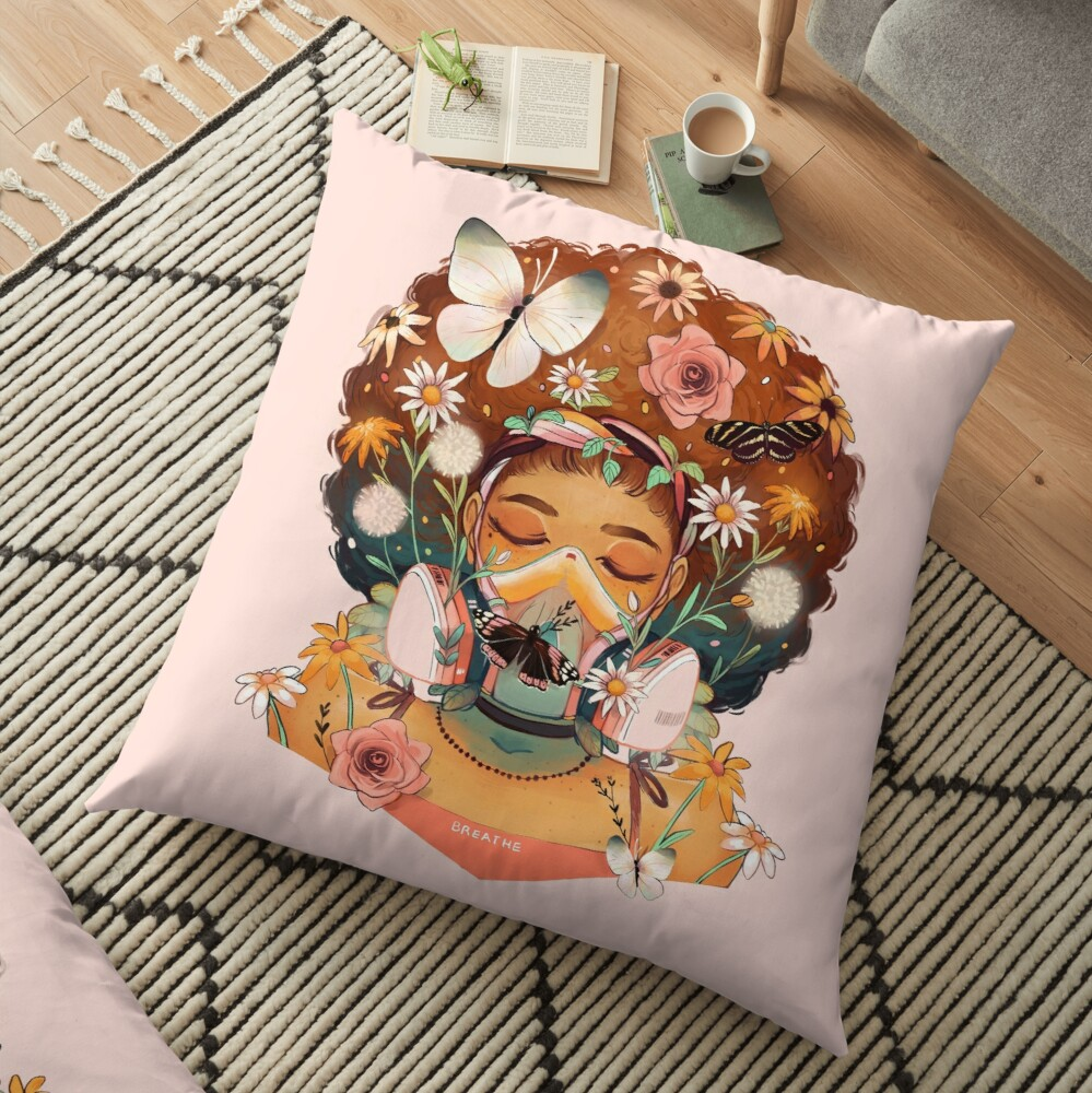 Breathe Deep Floor Pillow