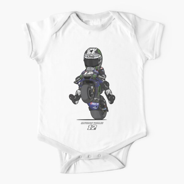 YAMAHA MOTO GP - MAVERICK VINALES V - 1 Short Sleeve Baby One-Piece