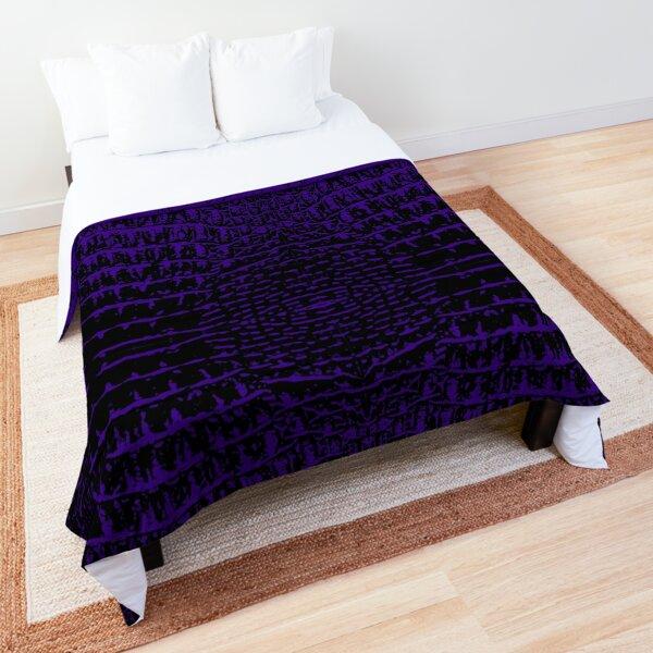 Alligator Print Purple Comforter
