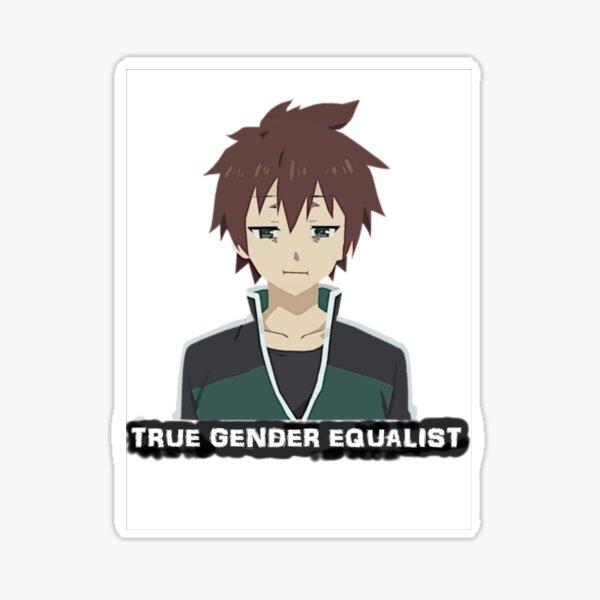 Konosuba - Kazuma True Gender Equalist Sticker