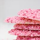 Chocolates with pink sugar by Patrick Reinquin