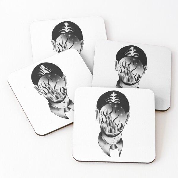 burning face Coasters (Set of 4)