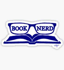 Book Nerd (Blue) Sticker