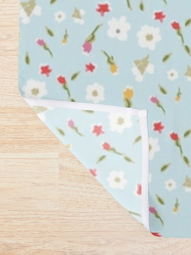 Alternate view of Spring Flowers in Periwinkle Shower Curtain