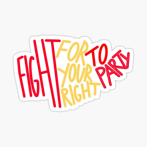 Chiefs Right to Party  Sticker
