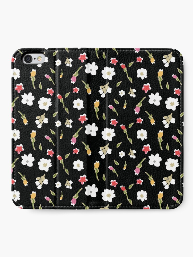 Alternate view of Spring Flowers in Licorice iPhone Wallet