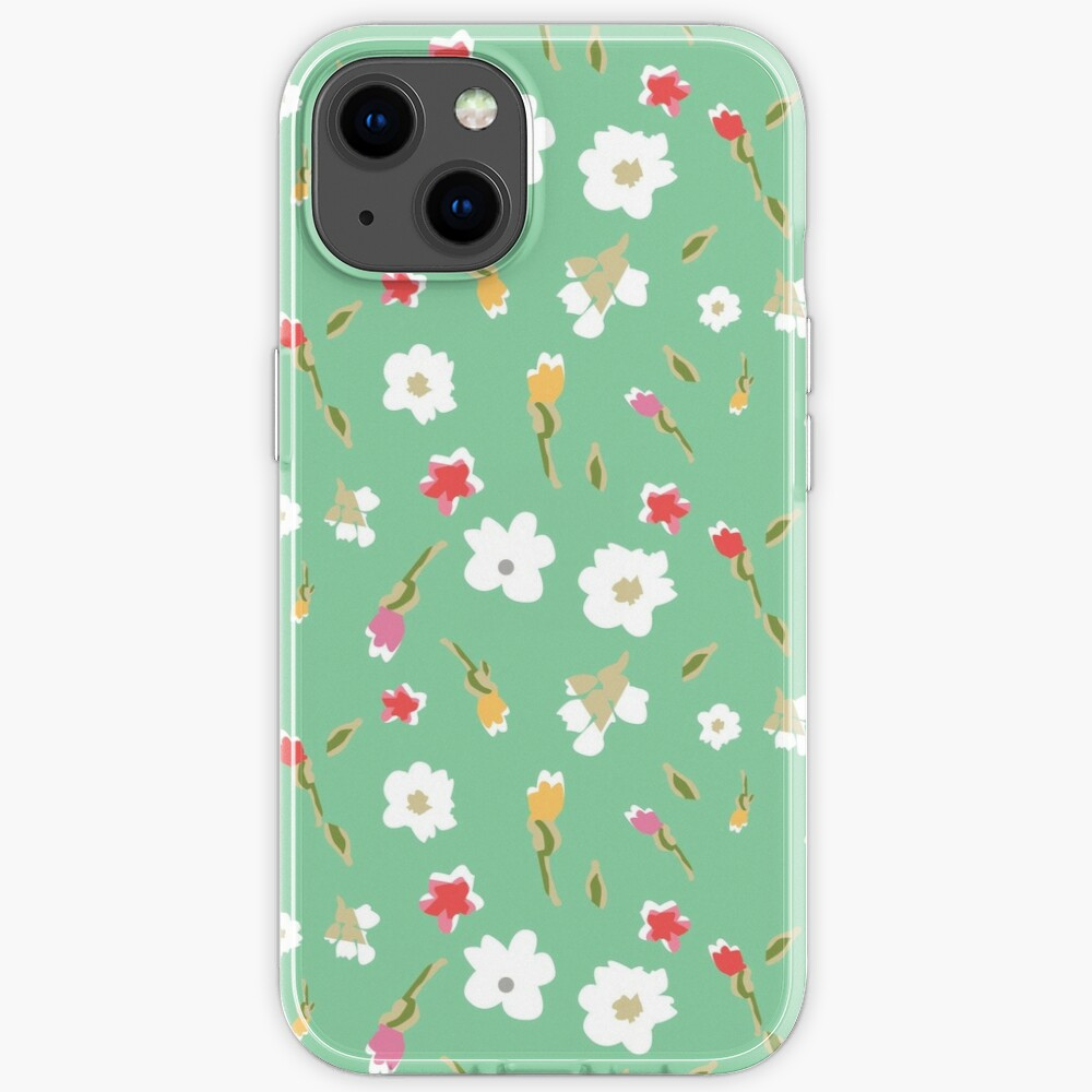 Spring Flowers in Mint iPhone Case