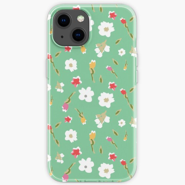 Spring Flowers in Mint iPhone Soft Case