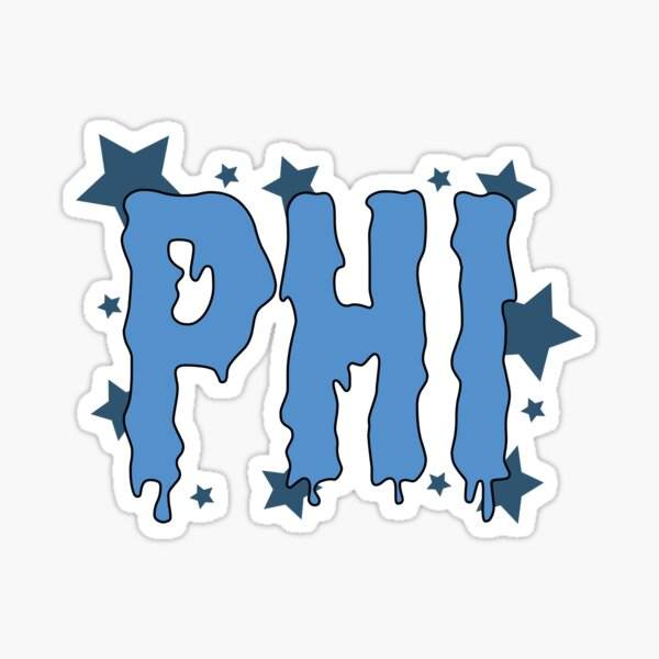 Phi greek letter Sticker