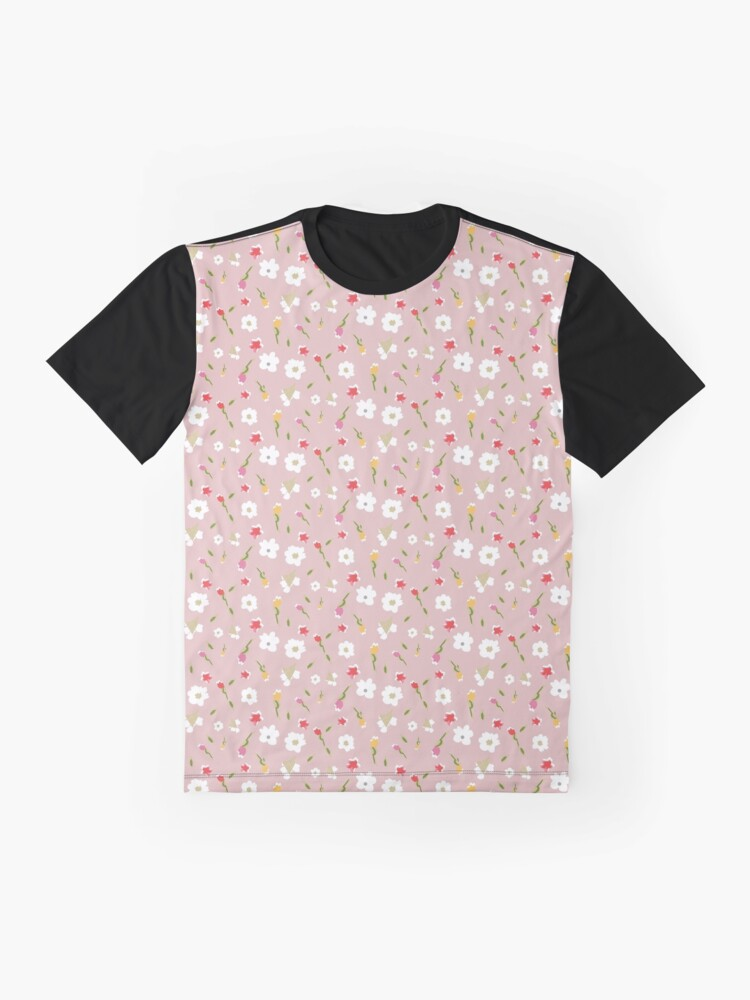 Alternate view of Spring Flowers in Rose Graphic T-Shirt