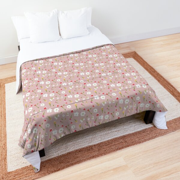 Spring Flowers in Rose Comforter