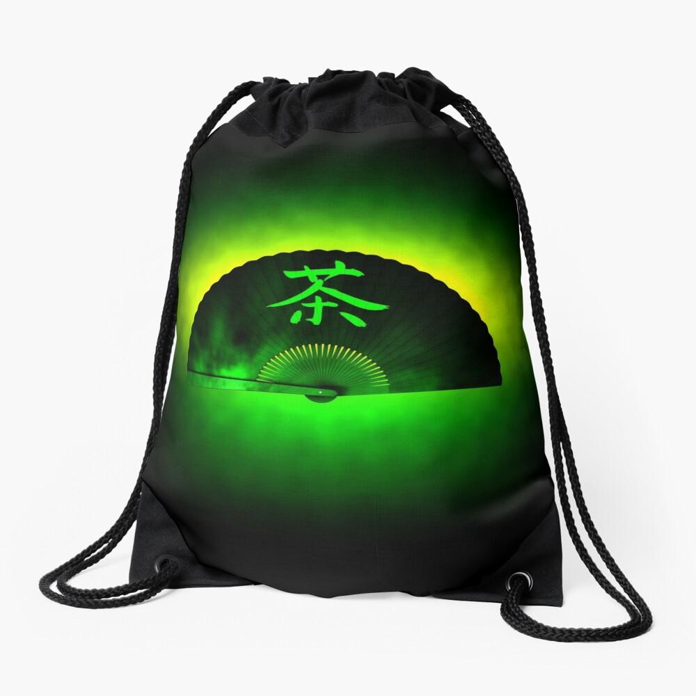 Green tea Drawstring Bag