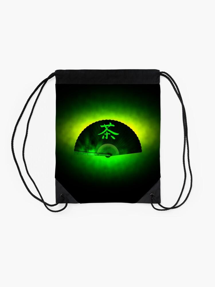 Alternate view of Green tea Drawstring Bag