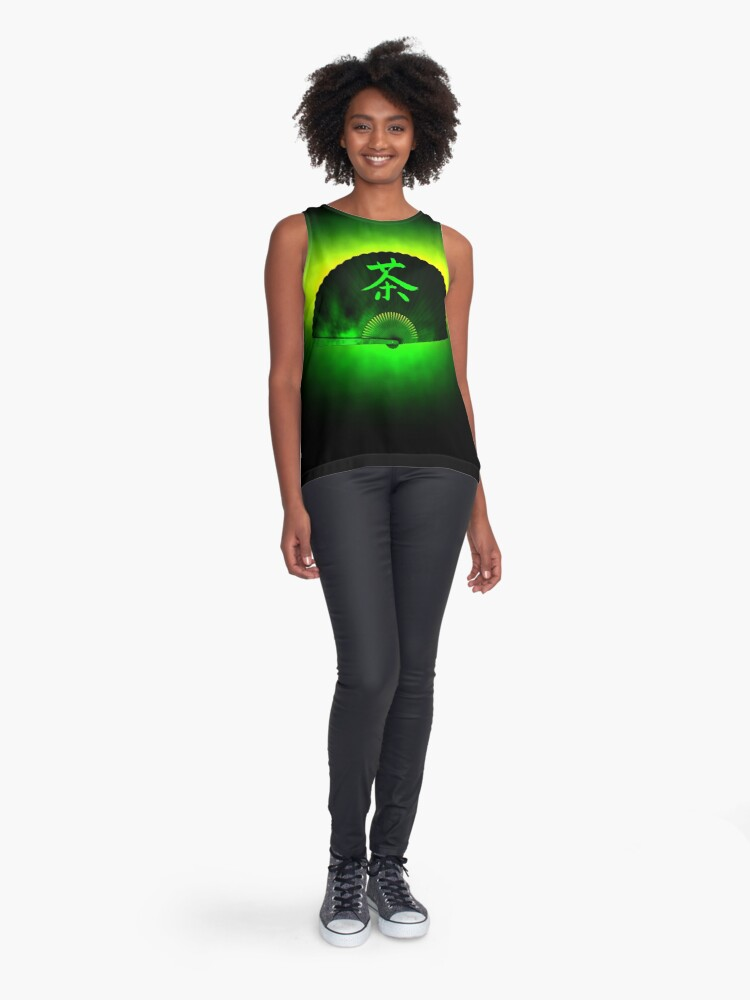 Alternate view of Green tea Sleeveless Top