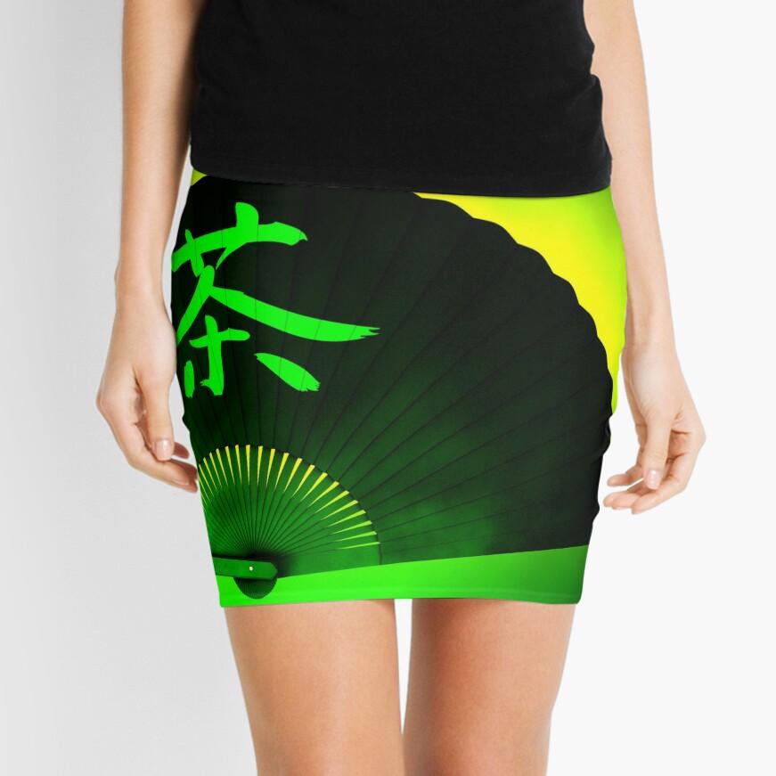 Green tea Mini Skirt