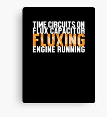 Back To The Future - Fluxing - White Clean Canvas Print