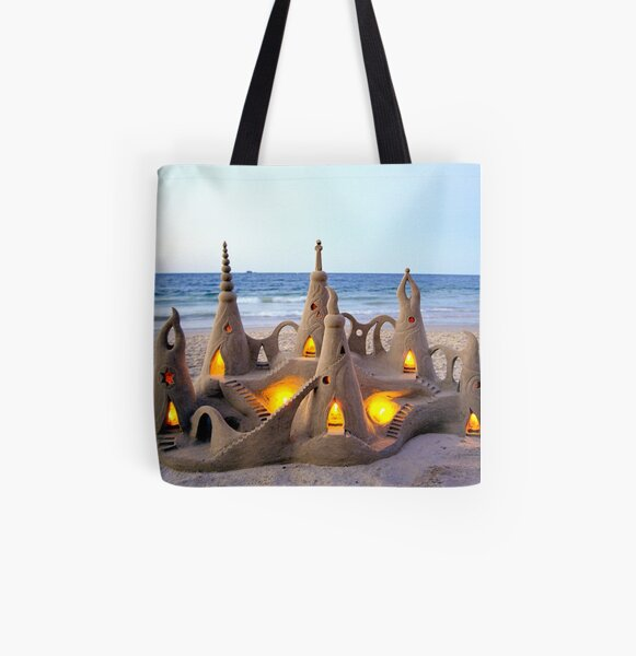 Sand Castle Byron Bay All Over Print Tote Bag