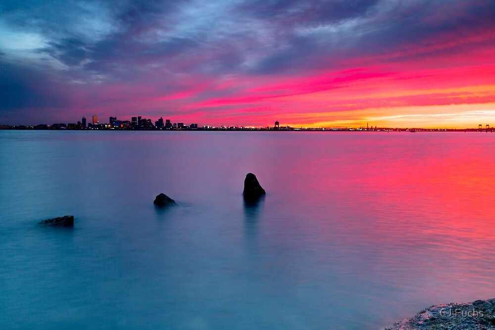 Boston from Deer Island by CJ Fuchs