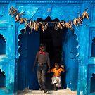 Blue door by Mark Smart