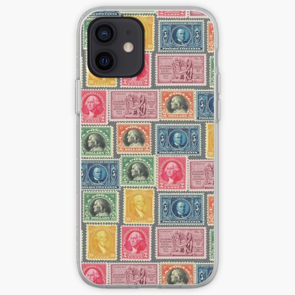 US Postage Stamp Collage iPhone Soft Case