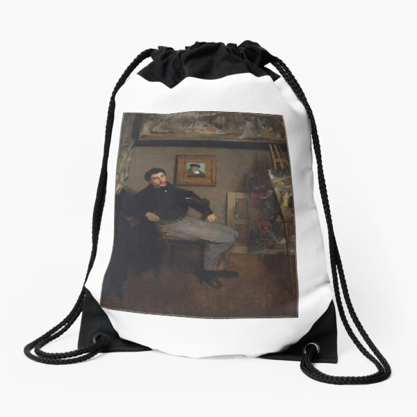 Shoulder Bag Rider with red Jacket by Edgar Degas Laptop Bag Messenger Bag