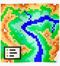 Pixel Topography Poster