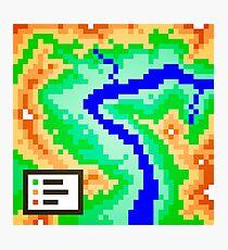 Pixel Topography Photographic Print