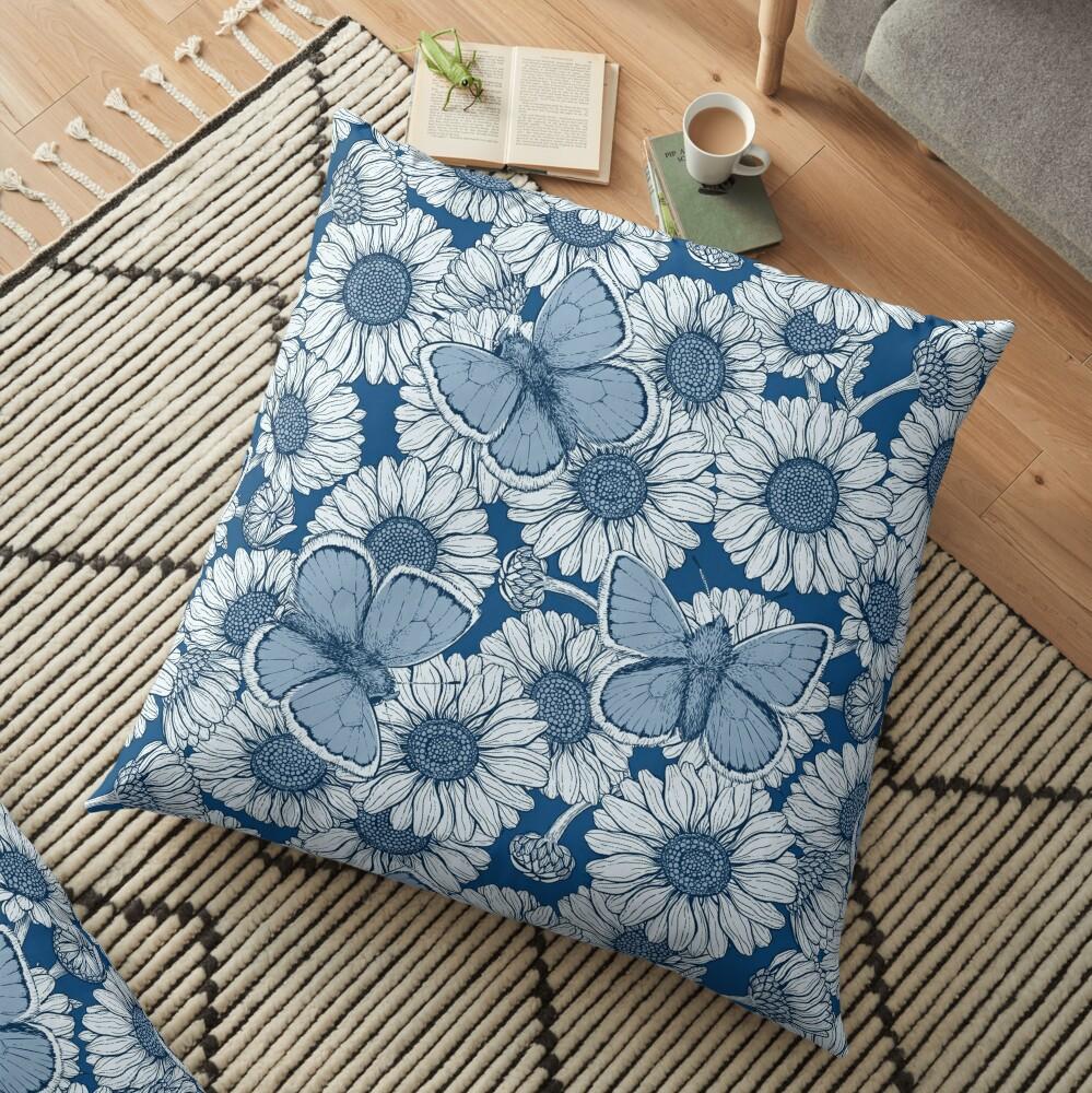 Classic blue spring Floor Pillow