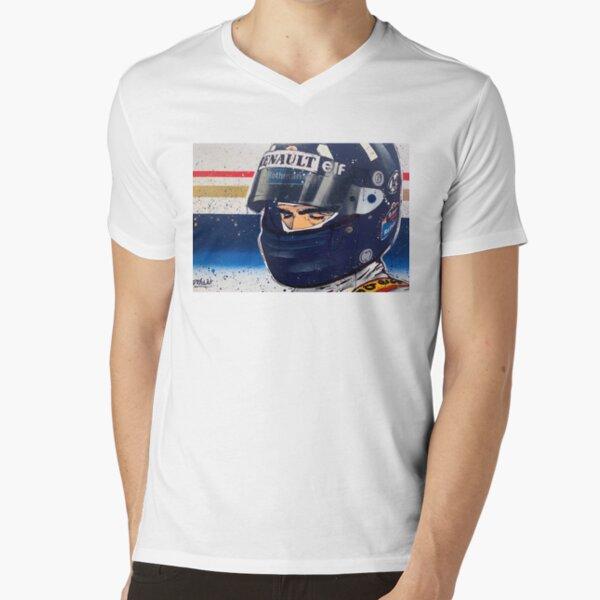 Damon Hill - Williams F1 graffiti painting by DRAutoArt V-Neck T-Shirt