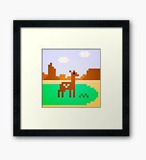 Deer in Meadow Framed Print