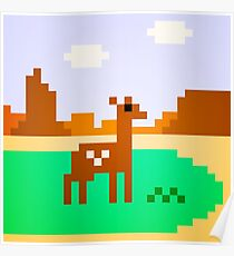 Deer in Meadow Poster