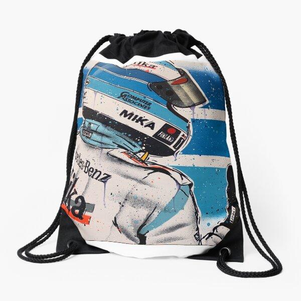 Mikka Hakkinen - McLaren graffiti painting by DRAutoArt Drawstring Bag