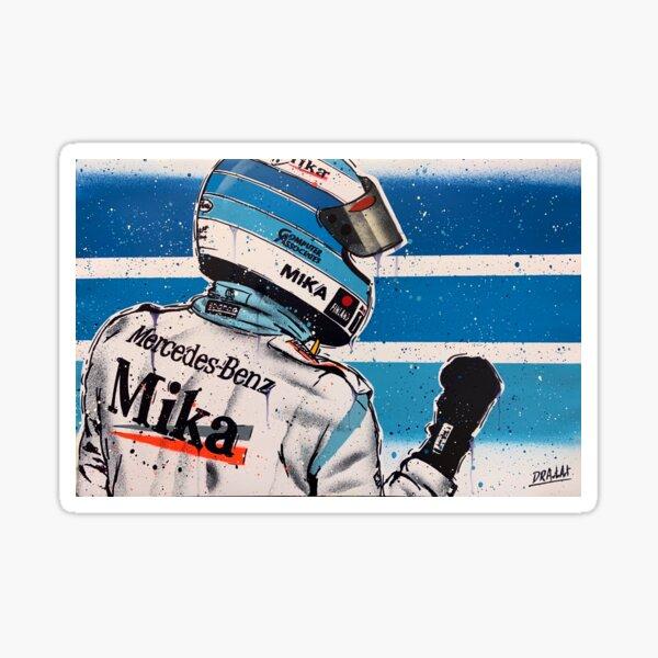 Mikka Hakkinen - McLaren graffiti painting by DRAutoArt Sticker