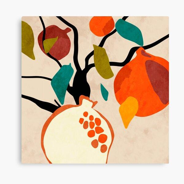 Granatapfelbaum illustration minimal Leinwanddruck