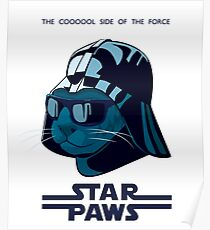 Darth Kitty - Imperial blue Poster