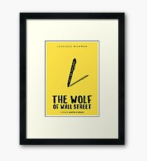 The Wolf Of Wall Street film poster Framed Print